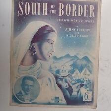 Songsheet sur de la frontera (México) Henry Hall 1939