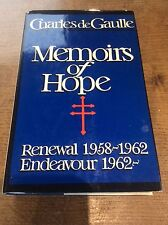 Charles De Gaulle Memoirs of Hope Renewal 1958-62 Endeavour 1962- Biography