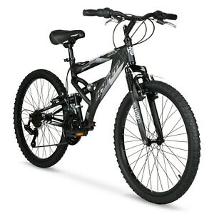 "Hyper 24"" Men's Havoc Mountain Bike Black Gray New arrival Fast Free Shipping"
