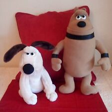 "TWO X Wallace & Gromit PRESTON THE CYBER DOG AND GROMIT DOG 14"" & 10"" TALL"