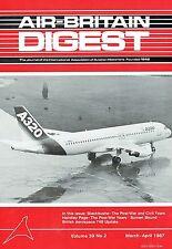 AIR-BRITAIN DIGEST MAR 87: BLACKBUSHE PART 2/ H.P.POST-WAR YEARS/FOLLAND GNAT