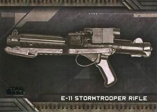 Star Wars Galactic Files Reborn Weapons Chase Card W-4 E-11 Stormtrooper Rifle