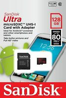 SanDisk® Ultra™ 128GB microSDXC™ UHS-I 80MB/s Class 10 Memory Card + SD adapter