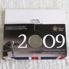 UK 2009 LONDON 2012 OLYMPIC GAMES B/UNC £5 CROWN - sealed