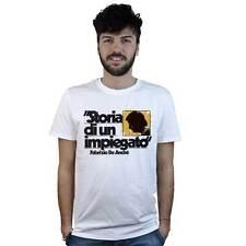 T-Shirt Storia di un Impiegato Fabrizio De Andrè, maglietta bianca con disegno