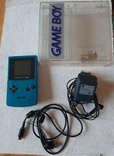 Nintendo Game Boy Color türkis inkl. Game Link Kabel, transparente Box