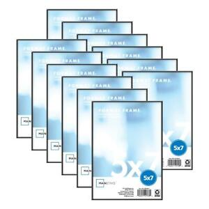 """Photo Frame Set Of 12 5x7"""" Format Lot Wall Art Home Decor Float Picture Frames"""