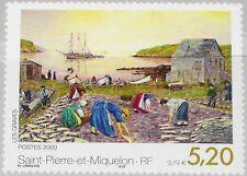 ST. PIERRE MIQUELON SPM 2000 793 692 Gemälde Painting by Langlois Kunst Art MNH