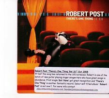 (DZ418) Robert Post, There's One Thing - 2005 DJ CD