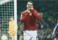 Chicharito - Javier HERNANDEZ SIGNED Man Utd 12x8 Photo AFTAL COA Authentic