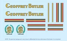 Transfers 01157 Geoffrey Butler Bicycle Stickers Decals