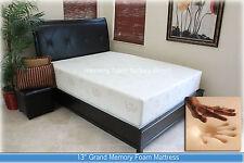 """SALE 13"""" Gel Grand Memory Foam Mattress. Twin, Full, Queen, King + 2 Pillows NEW"""