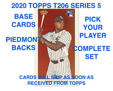 2020 Topps T206 Series Wave 5 (Cards 1-50) BASE & PIEDMONT BACK PICK PLAYER