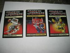 TRANSFORMERS G1 INSTRUCTIONS lot B