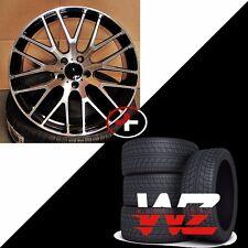 "19"" Mesh Style Gloss Black Wheels w Tires Fits Mercedes AMG C CLA CLK E Class"
