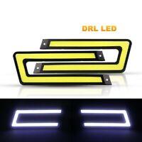 LED Strip Daytime Running Lights Fog DRL COB Car Lamp White Day Driving 12V 2pcs