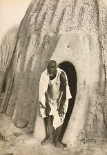 Case obu Kapsiki Cameroun Rhumsiki Afrique CIRCA 1950 argentique CAMEROON