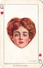 Will Grefe~The Queen of Hearts~Pretty Woman Vignette on Playing Card~1909 Moffat