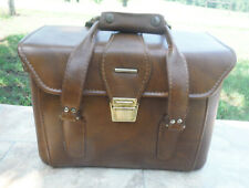 Vintage Rugged Indy Stitched Faux Leather Case Tucky Camera Case Travel Carry On
