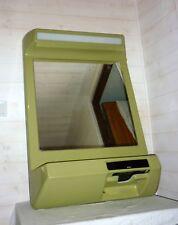 1970 SPACE AGE Miroir UFO vert lumineux et radio intégré Fibre et résine Mirror