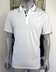 MICHAEL KORS MENS Polo Shirt, Weiß / Hellgrau, T-Shirt,  Gr. S Uvp: 99Euro, NEU