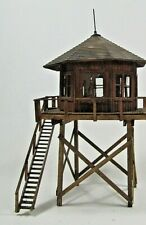 HO scale  wood LOOKOUT TOWER, unbranded, custom made
