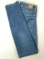 AMERICAN EAGLE Womens SKINNY Low Rise Jeans Medium Wash Size 2 LONG