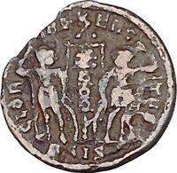 Constans Gay Emperor Constantine the Great son Ancient Roman Coin Labarum i42565
