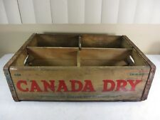 Vintage Wooden Canada Dry Soda Pop Box Shipping Storage Crate Advertising