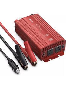 500 Watt Pure Sine Wave Power Inverter DC 12V to AC 110V Car Plug Inverter Adapt