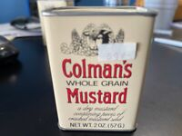 Vintage Colman's Whole Grain Dry Mustard Tin UNOPENED/FULL EXCELLENT Condition