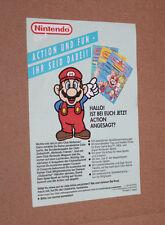 1990 Club Nintendo vieux membre sont CARTE/CARD Publicité Flyer Super Mario