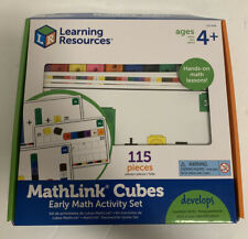 Learning Resources Mathlink Cubes Early Math Activity Set 115 Pieces Complete