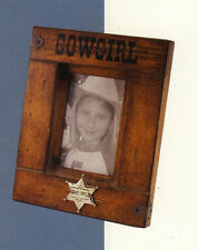 "Western Lodge Cabin Decor ~Cowgirl~ 8 1/4"" X 10 1/4"" X 1"" Wood Picture Frame"