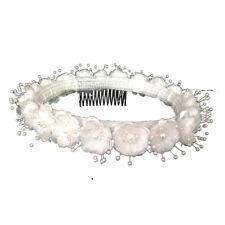 Wedding Silk Flower Band Halo Flower Girl Head Piece - White