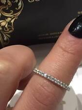 PLATINO Half Eternity Ring 0.25 KT SRC Diamanti Taglio Rotondo Lady Ring GOY475