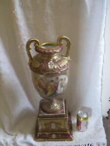 Vintage / Antique Beautiful Vienna Porcelain Large Vase Neoclassical Scene