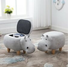 White Hippo Storage Chair 1pc