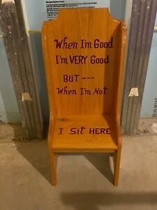 HANDMADE Solid Wood Time Out Chair - NEVER USED