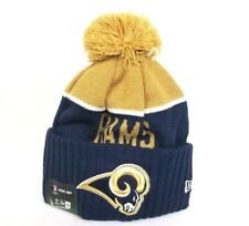Authentic NEW Los Angeles Rams New Era NFL On Field Winter Beanie Knit Hat