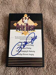Pete Rose Autographed Label
