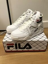 FILA THE CAGE White Navy Red Mid High Top Retro Basketball Men's Shoes Size 10US