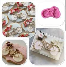Bike Silicone Fondant Mold Chocolate Candy Bakeware Cake Topper Decor Mould DIY