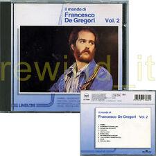 "FRANCESCO DE GREGORI ""IL MONDO DI DE GREGORI VOL.2"" RARO CD 1990"