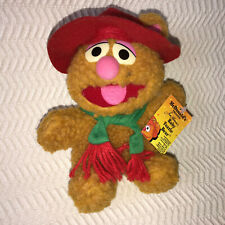 Muppets Jim Hensons Baby Fozzie Bear Plush McDonalds 1987 1988 Tag Scarf Hat NEW