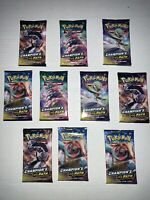 10x New Unopened Champions Path Pack bundle 100% Factory Sealed 🌈 Charizard?🔥