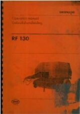VICON GREENLAND BALER RF130 OPERATORS MANUAL