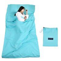Hüttenschlafsack Schlafsack Reiseschlafsack mit Tragetasche Ideal für Innen Host
