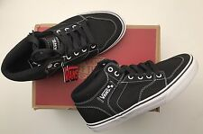 BNIB VANS Brooklyn Mid Top Canvas Trainers  7.5 41 Black Guaranteed Genuine