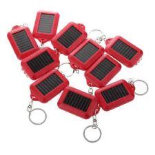 10X Solar Power 3LED Taschenlampe Schluesselanhaenger Licht-Fackel-Ring rot K0E7